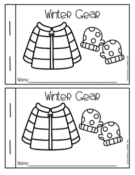 Winter Gear Emergent Reader