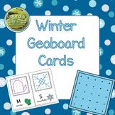 Winter Geoboard Cards