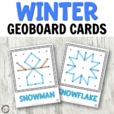 Winter Geoboard Cards for Fine Motor Centers