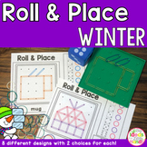 Winter Geoboard Roll and Place Math and Geometry Activity