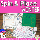 Winter Geoboard Spin and Place Math and Geometry Activity