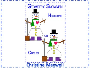 Winter Geometric Snowman 2D Shapes