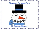 Winter Geometric Snowman Face 2D Shapes