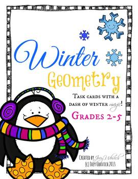 Winter Geometry: Task Cards with a touch of winter magic!
