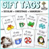 Winter Gift Tags : Christmas, Holiday, Hanukkah