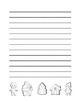 """Winter Gingerbread"" Writing Sheets Common Core   (color & black line)"