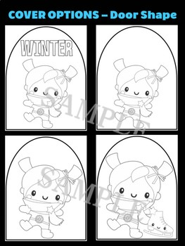 Winter Girl with Earmuffs & Ice Skates - Moonju Makers Activity, Craft, Decor