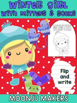 Winter Girl with Mittens & Socks - Moonju Makers Activity, Craft, Writing, Decor