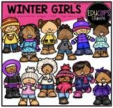 Winter Girls Clip Art Bundle {Educlips Clipart}