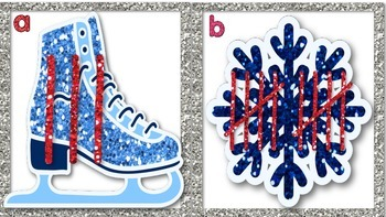 Winter Glitter Count and Write the Room with Tally Marks