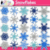 Glitter Snowflake Clip Art {Weather Graphics for Winter and Science Resources}