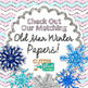 Glitter Snowflake Clip Art {Weather Graphics for Winter an