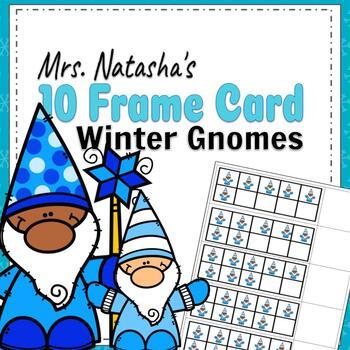 Winter Gnome 10 Frame Cards