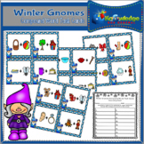 Winter Gnomes Compound Words Task Cards