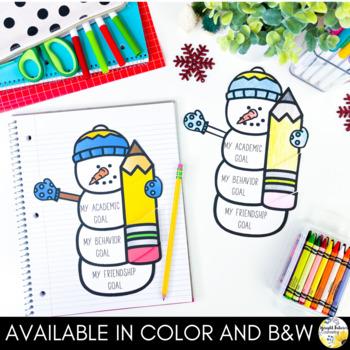 Winter Goal Setting Flip Book - Snowman Goals