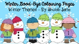 Winter Good-Bye Colouring Pages (January Only)