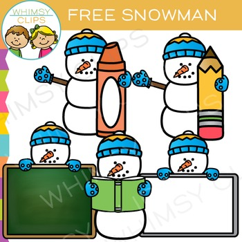 free snowman clip art by whimsy clips teachers pay teachers rh teacherspayteachers com
