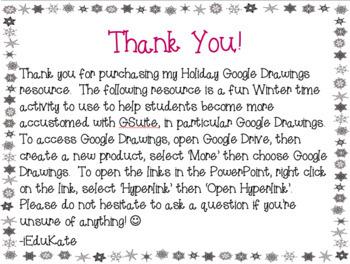 Winter Google Drawings