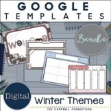 Winter Google Slides Template Bundle | Editable | Distance