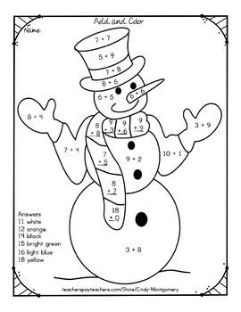 Winter Grag Bag of Reading, Writing, and Math Sheets