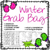 Winter Grag Bag of Reading, Writing, and Math Sheets