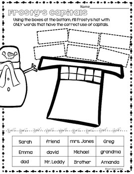 Winter Grammar 1st Grade