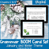 Winter Grammar BOOM Cards for Digital Learning and Distanc