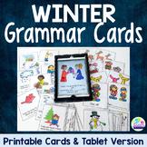 Winter Grammar Cards for Irregular Verbs and Plural Nouns