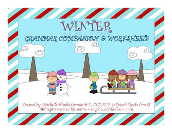 Winter Grammar Companion and Worksheets