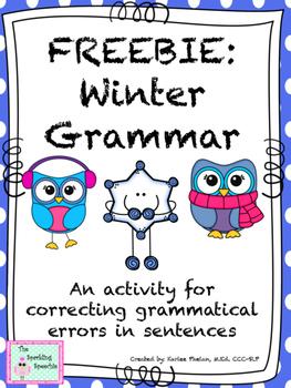 Winter Grammar FREEBIE