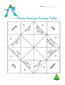Winter Grammar Fortune Teller