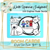 Winter Grammar Judgement BOOM Cards – Speech Therapy Distance Learning