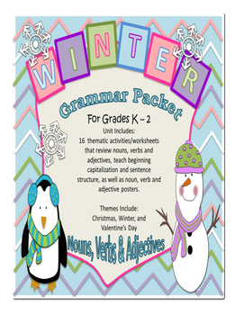 Winter Grammar Packet - K - 1st Grade