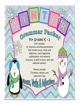 Winter Grammar Packet - K - 1st Grade