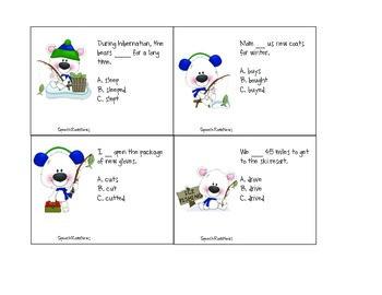 Winter Grammar: Speech Therapy Activities