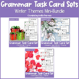 Christmas, Winter, and Valentine's Day Grammar Task Cards BUNDLE