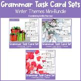 Winter Grammar Task Card Bundle   Grammar Review   Winter