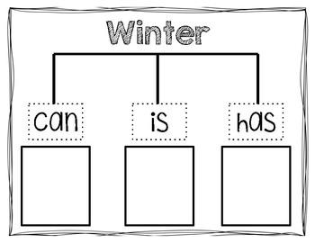 Winter Graphic Organizer