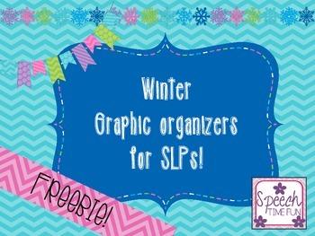 Winter Graphic Organizers for SLPs FREEBIE