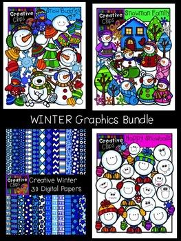 Winter Graphics Bundle {Creative Clips Digital Clipart}
