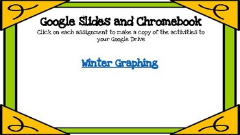 Winter Graphing-A Digital Math Center (Compatible with Google Apps)