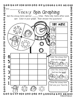 S'mores - Snowmen - Wintry Goodies: Graphing Fun Activities!