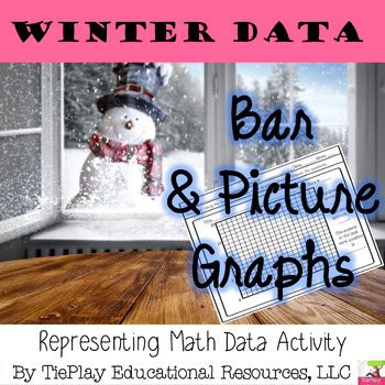 Winter Graphing Math Pictures and Bar Graphs Represent Data No Prep