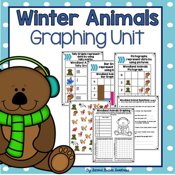 Graphing Unit: Winter Woodland Animals{ A Differentiated Graphing Unit}