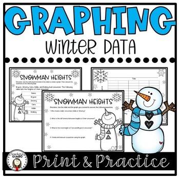 Winter Graphing Worksheet Bundle