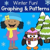 Winter Activities Graphing and Patterns (Kindergarten Math, January Activities)