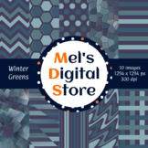 Winter Greens: Digital Party Papers {Mel's Digital Store}