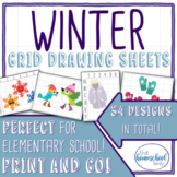 Winter Grid Drawing Set - Elementary and Homeschool