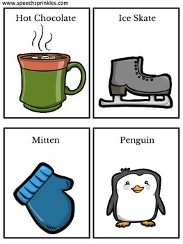 Winter Guessing Game Cards