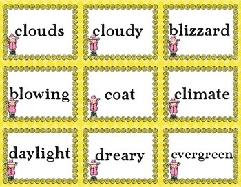 Winter Guide Words | Guide Words | Dictionary Skills